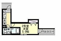 相鉄本線 西横浜駅 徒歩7分の賃貸アパート 3階1Kの間取り