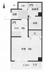 JR高徳線 昭和町駅 徒歩2分の賃貸マンション 7階ワンルームの間取り