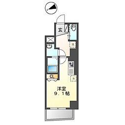 都営大江戸線 蔵前駅 徒歩6分の賃貸マンション 2階ワンルームの間取り