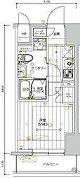 京急本線 新馬場駅 徒歩5分の賃貸マンション 7階1Kの間取り