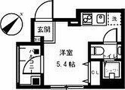 都営三田線 西巣鴨駅 徒歩5分の賃貸マンション 4階ワンルームの間取り