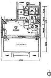 クレイシア西蒲田 10階ワンルームの間取り