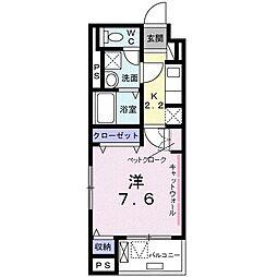 東京メトロ東西線 西葛西駅 徒歩13分の賃貸マンション 3階1Kの間取り