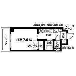 ソアラプラザ日進竹の山 4階ワンルームの間取り