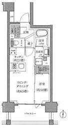 リビオ大宮氷川参道ザ・テラス 9階1LDKの間取り