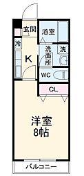 東武伊勢崎線 東武動物公園駅 徒歩3分の賃貸アパート 1階1Kの間取り