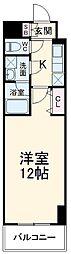 JR東北本線 宇都宮駅 徒歩5分の賃貸マンション 4階1Kの間取り