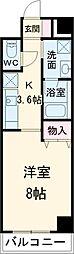 東武伊勢崎線 春日部駅 徒歩9分の賃貸マンション 3階1Kの間取り