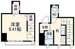 JR東海道本線 小田原駅 徒歩8分の賃貸マンション 3階1Kの間取り