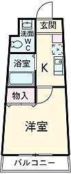 JR東海道本線 相見駅 徒歩35分の賃貸マンション 8階1Kの間取り
