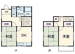 JR東海道本線 辻堂駅 徒歩19分の賃貸一戸建て 1階3DKの間取り