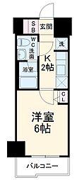 スパシエソリデ武蔵小杉 8階1Kの間取り