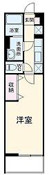 名古屋市営東山線 八田駅 徒歩7分の賃貸マンション 1階1Kの間取り