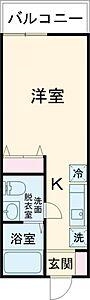 間取り,ワンルーム,面積19.65m2,賃料6.4万円,都営新宿線 一之江駅 徒歩10分,都営新宿線 船堀駅 徒歩18分,東京都江戸川区一之江7丁目