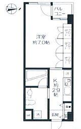 京王井の頭線 西永福駅 徒歩3分の賃貸テラスハウス 3階1Kの間取り