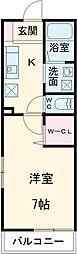 JR総武線 幕張本郷駅 徒歩9分の賃貸アパート 1階1Kの間取り