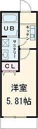 JR中央線 西荻窪駅 徒歩8分の賃貸アパート 1階1Kの間取り