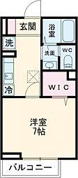 都営新宿線 篠崎駅 徒歩3分の賃貸アパート 1階1Kの間取り