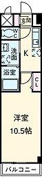 愛知高速東部丘陵線 杁ヶ池公園駅 徒歩21分の賃貸マンション 1階1Kの間取り
