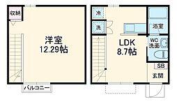 JR京浜東北・根岸線 山手駅 徒歩2分の賃貸アパート 1階1LDKの間取り