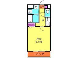 小田急江ノ島線 湘南台駅 徒歩4分の賃貸マンション 1階1Kの間取り
