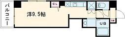 東京メトロ日比谷線 三ノ輪駅 徒歩5分の賃貸マンション 2階ワンルームの間取り
