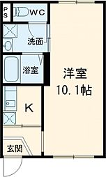 東京メトロ日比谷線 南千住駅 徒歩11分の賃貸マンション 3階1Kの間取り
