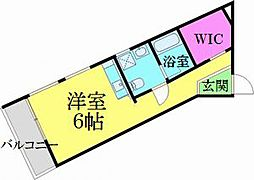 ヴェスパーマティーニ亀有 3階ワンルームの間取り