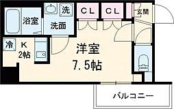 京王線 八幡山駅 徒歩9分の賃貸マンション 3階ワンルームの間取り
