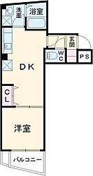 プラージュ東千葉 1階1DKの間取り