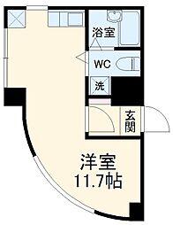 JR総武本線 稲毛駅 徒歩2分の賃貸マンション 5階ワンルームの間取り