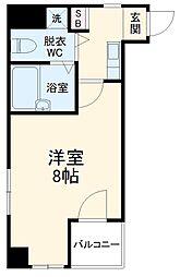 JR総武本線 稲毛駅 徒歩2分の賃貸マンション 6階ワンルームの間取り