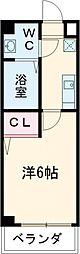 京王線 京王八王子駅 徒歩4分の賃貸マンション 4階1Kの間取り