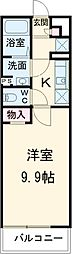 JR南武線 矢川駅 徒歩9分の賃貸マンション 3階1Kの間取り