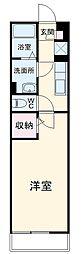 東急田園都市線 たまプラーザ駅 徒歩14分の賃貸アパート 3階1Kの間取り