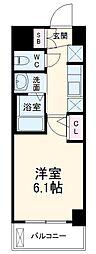 エステムコート名古屋泉プラチナムゲート 8階1Kの間取り