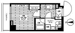 JR中央線 八王子駅 徒歩8分の賃貸マンション 1階1Kの間取り