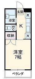 JR高崎線 新町駅 徒歩17分の賃貸アパート 1階1Kの間取り