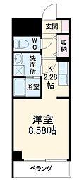 あさひグランレジデンシア高崎 II 7階1Kの間取り
