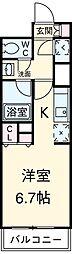 東急田園都市線 駒沢大学駅 徒歩2分の賃貸マンション 13階1Kの間取り