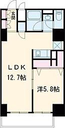 東急田園都市線 駒沢大学駅 徒歩2分の賃貸マンション 2階1LDKの間取り