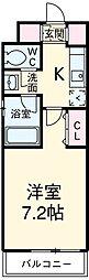 東急田園都市線 駒沢大学駅 徒歩2分の賃貸マンション 3階1Kの間取り
