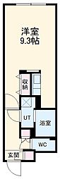 LUORE浄心 2階ワンルームの間取り