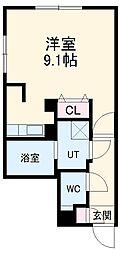 LUORE浄心 3階ワンルームの間取り