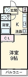 豊橋鉄道渥美線 植田駅 バス25分 技科大前下車 3.8kmの賃貸マンション 1階1Kの間取り