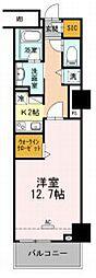 豊橋鉄道東田本線 駅前大通駅 徒歩7分の賃貸マンション 5階1Kの間取り