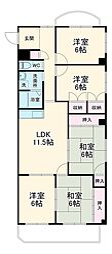 JR東海道本線 豊橋駅 バス20分 国立病院前下車 徒歩2分の賃貸マンション 2階5LDKの間取り