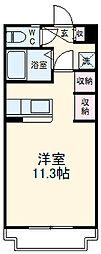 JR東海道本線 浜松駅 バス50分 根洗町停下車 徒歩8分の賃貸マンション 5階1DKの間取り