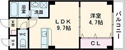 JR東海道・山陽本線 茨木駅 徒歩15分の賃貸アパート 1階1LDKの間取り