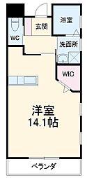 JR東海道本線 鷲津駅 徒歩5分の賃貸アパート 1階ワンルームの間取り